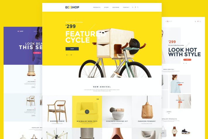 Thumbnail for ECOSHOP - Multipurpose eCommerce PSD Template