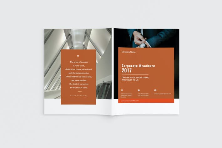 Thumbnail for Cortech - A4 Corporate Brochure Template