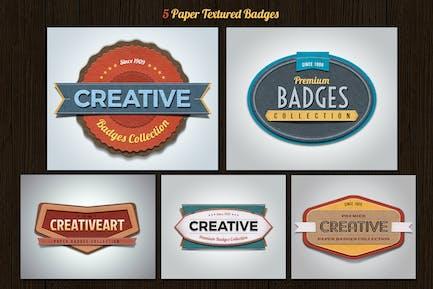 Texturierte Papierabzeichen