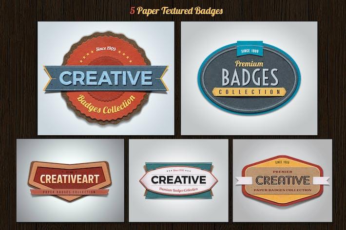 Paper Textured Badges