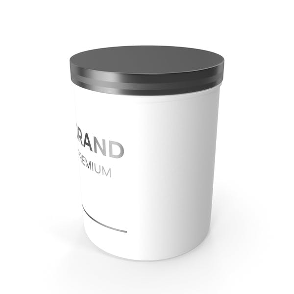 White Cosmetic Jar