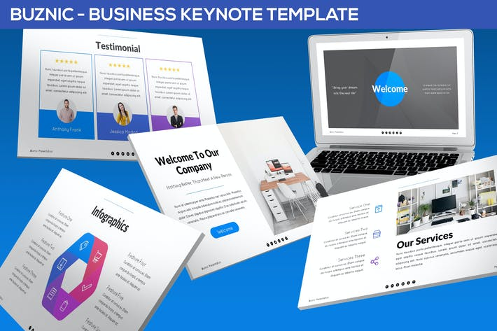 Thumbnail for Buznic - Business Keynote Template