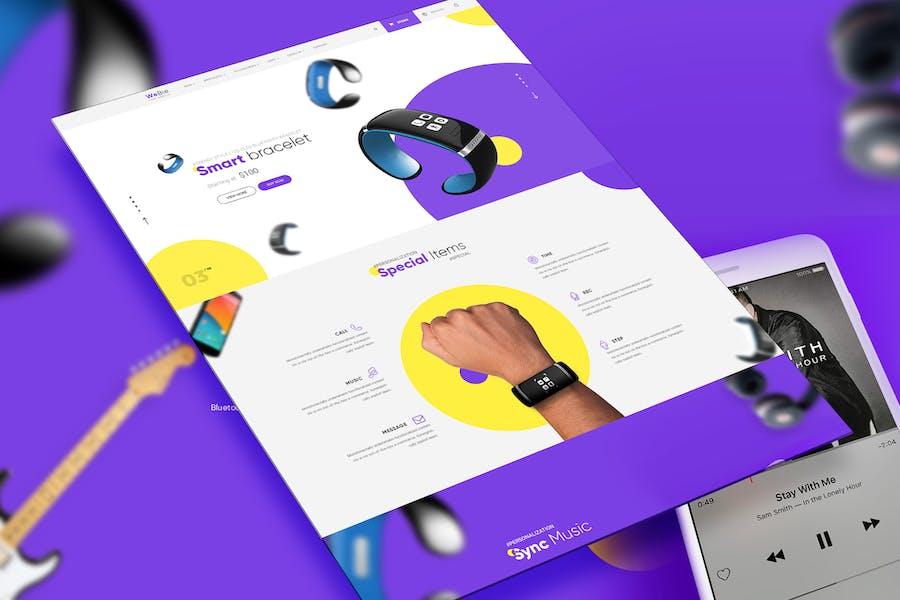 Webie Single Product Showcase Design Template