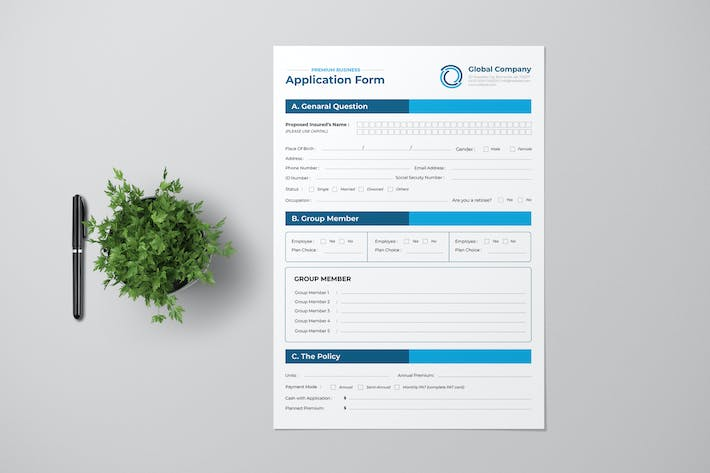 Thumbnail for Clean Business Form Design