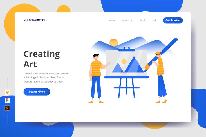 Thumbnail for Creating Art - Landing Page