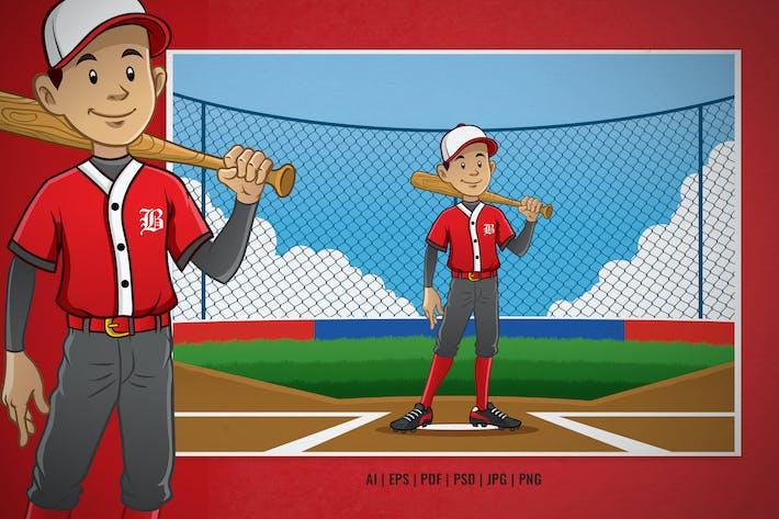 baseball player pose on the baseball pitch