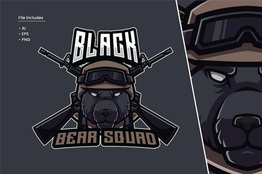 Black Bear Squad Logo Template