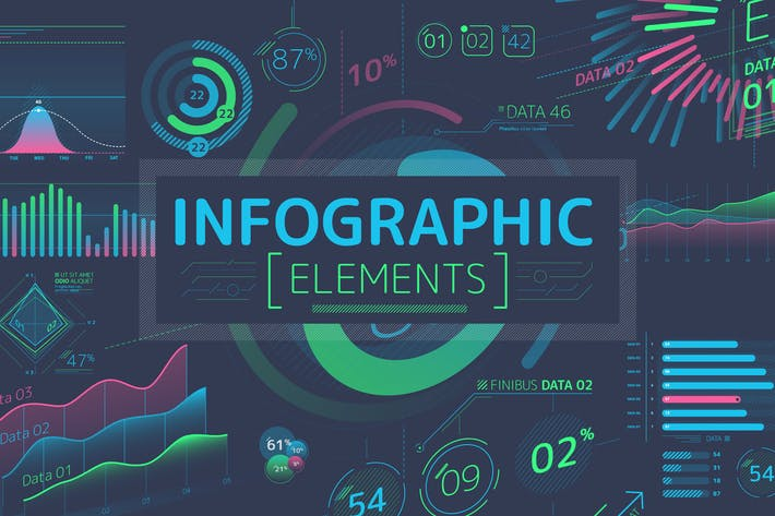 Cover Image For Flat Infographic Elements