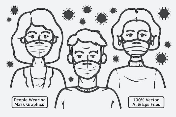 Thumbnail for Menschen tragen Maske Vektor