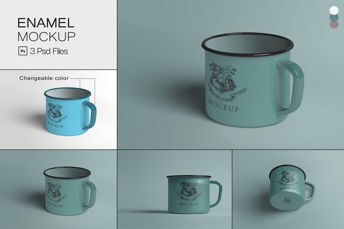 Thumbnail for Emaille-Becher Mock-ups