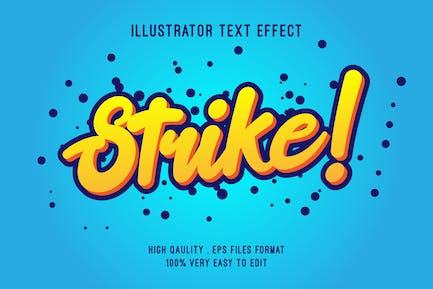 strike text effect