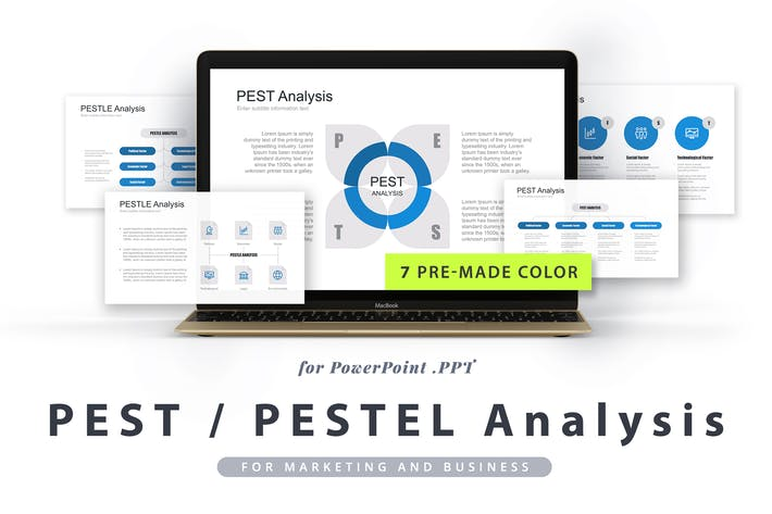 Thumbnail for PEST / PESTEL / PESTLE Analysis PowerPoint