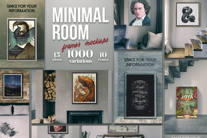 Thumbnail for Minimal Room - Frames Mockups