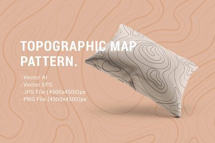 Mapa topográfico de patrón sin costuras