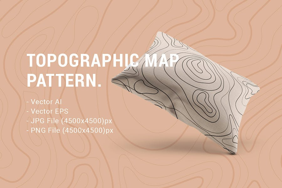 Seamless Pattern Topographic Map