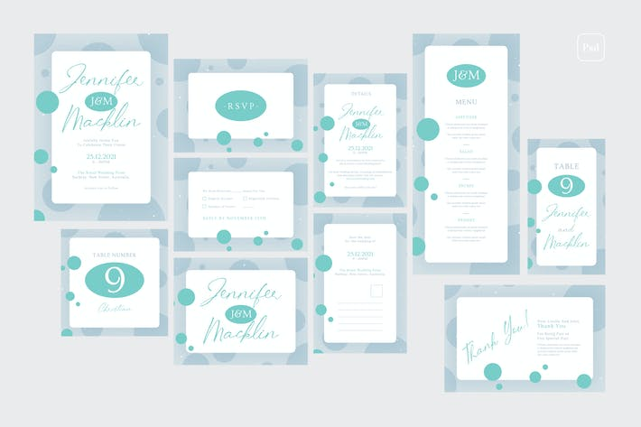 Cover Image For Wedding Invitation Set