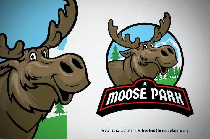 Thumbnail for Moose Cartoon Nature Park Logo