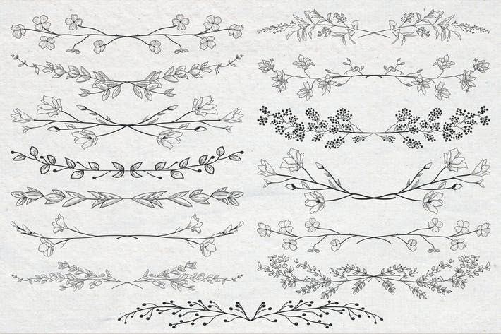 Thumbnail for Drawn Floral Dividers