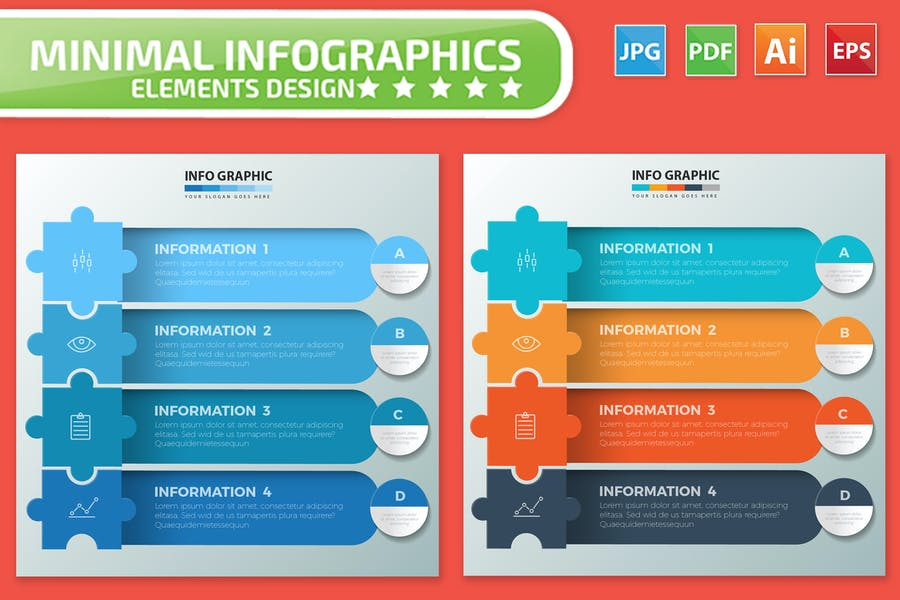 Puzzle Infographic Elements