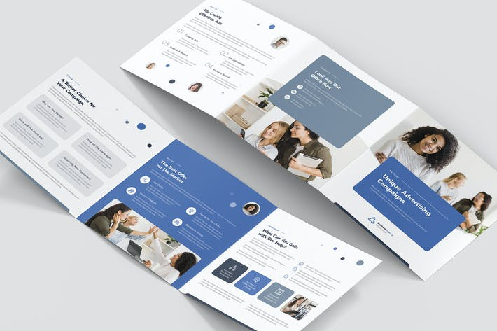 Thumbnail for Brochure – Business Agency Tri-Fold Square