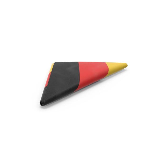 Fahne gefaltet Dreieck Deutschland