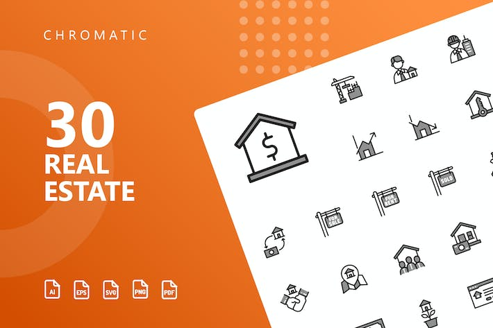 Thumbnail for Real Estate Chromatic Icons