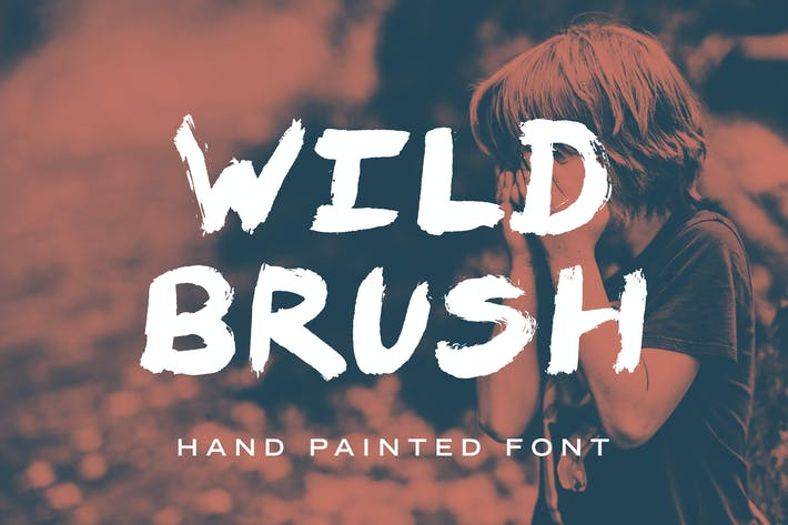 Thumbnail for Wild Brush Font