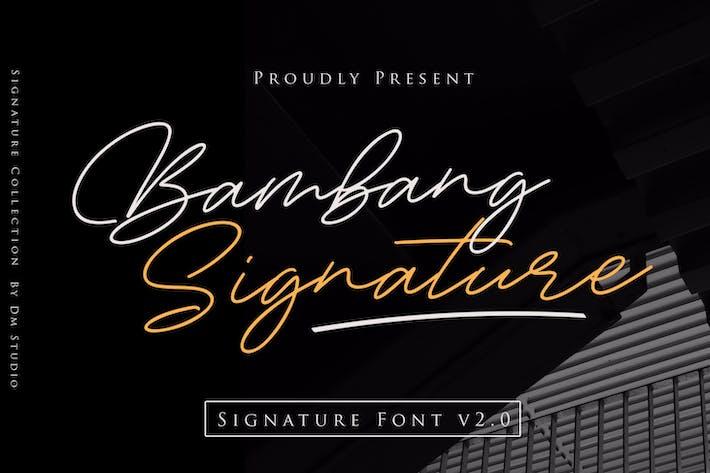 Thumbnail for Bambang Signature V2.0 - Signature Font