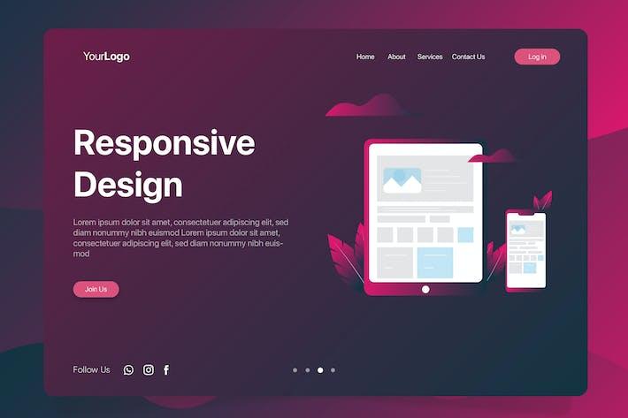 Thumbnail for Responsive Design - Banner & Landing Page