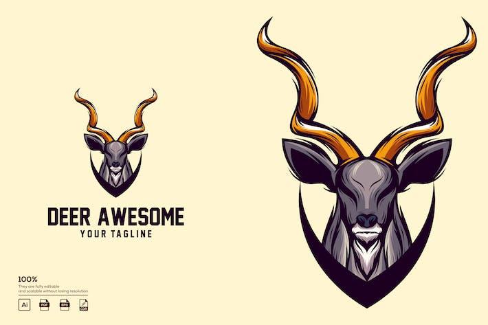 Thumbnail for deer logo design