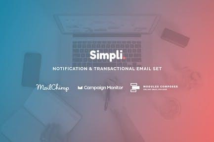 Simpli - Notification Email Templates