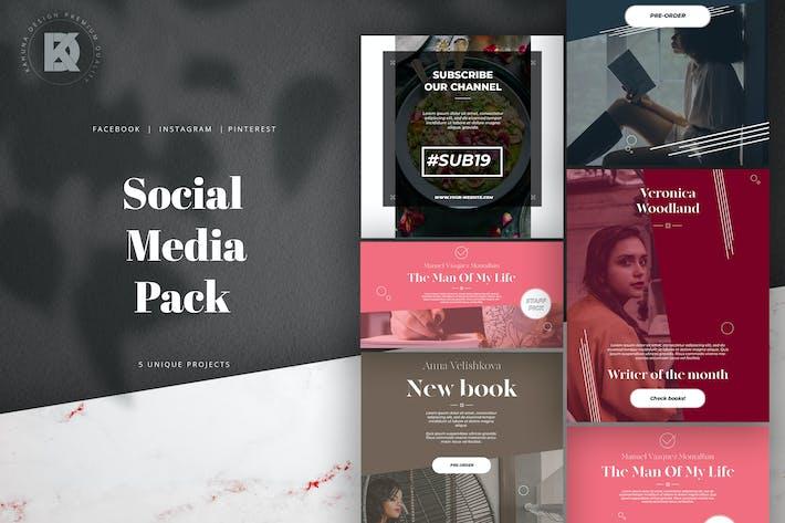 Thumbnail for Schriftsteller & Buchhandlung Social Media Pack