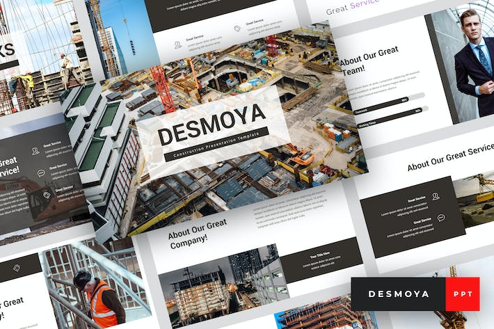 Thumbnail for Desmoya - Construction PowerPoint Template