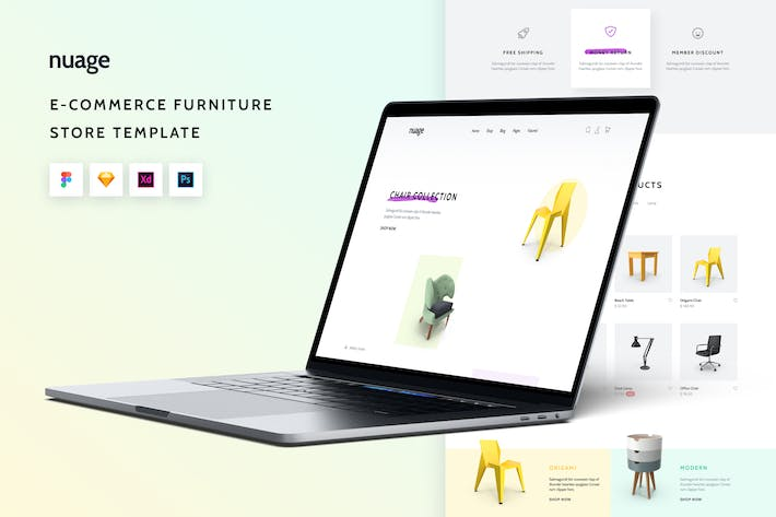 Thumbnail for Nuage eCommerce Furniture Store Shop UI Template