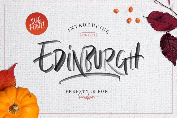 Thumbnail for Edinburgh - SVG Font