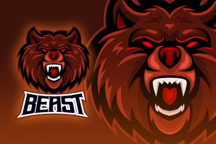 Thumbnail for Great Red Bear Roar Esport Logo