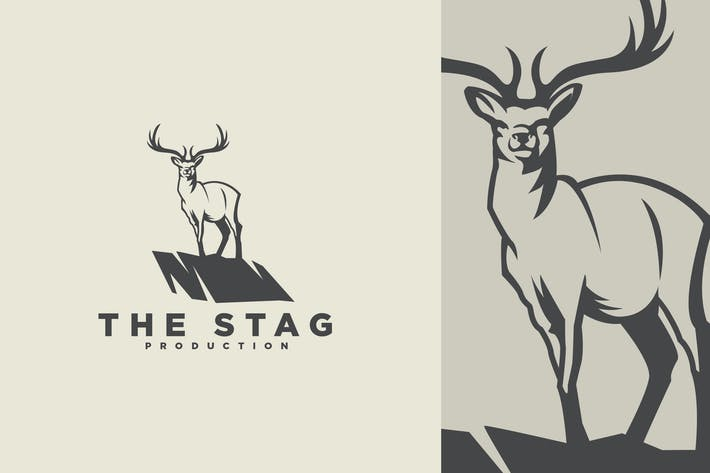 Thumbnail for Stag Mascot on Cliff Logo