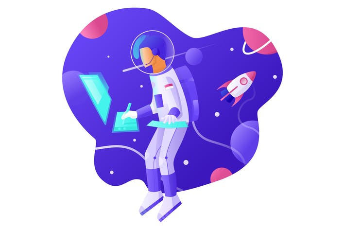 Thumbnail for Design in Space - Vector Illustration