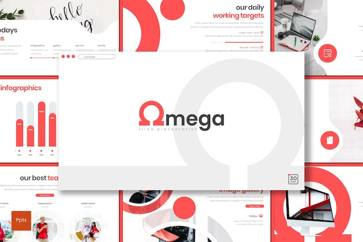 Cover Image For Omega - Powerpoint Template