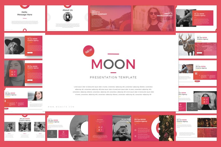 Thumbnail for Moon Powerpoint Template