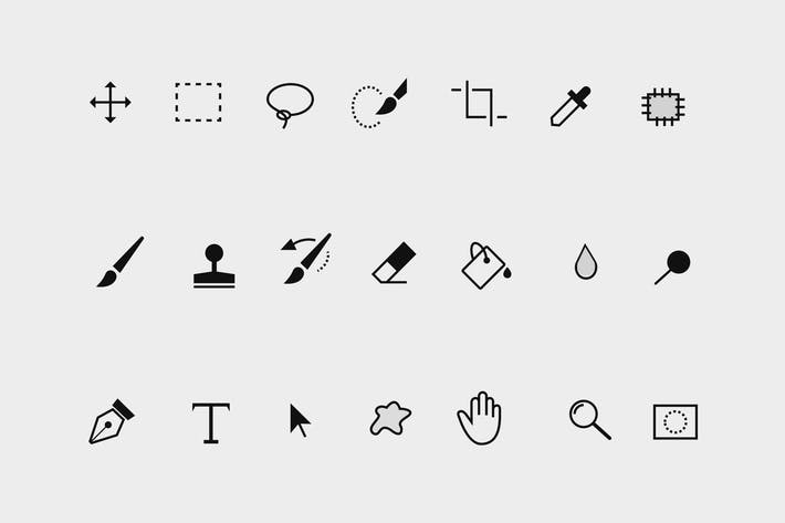 Thumbnail for 21 Photoshop Toolbar Icons