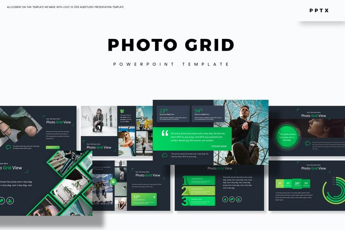 Thumbnail for Photo Grid - Шаблон Powerpoint