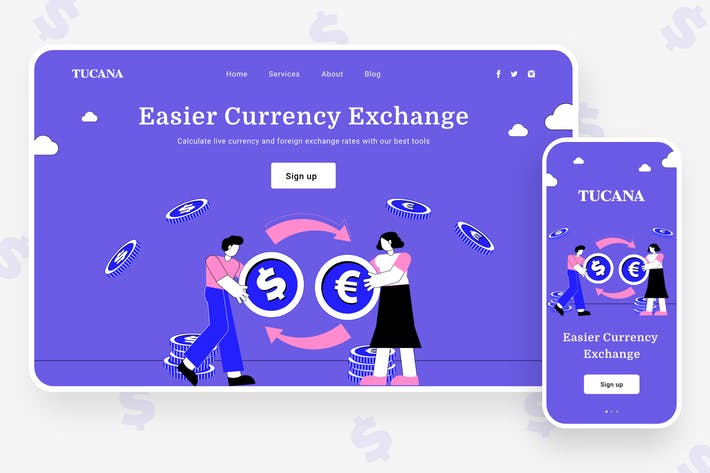 Currency Exchange Illustration