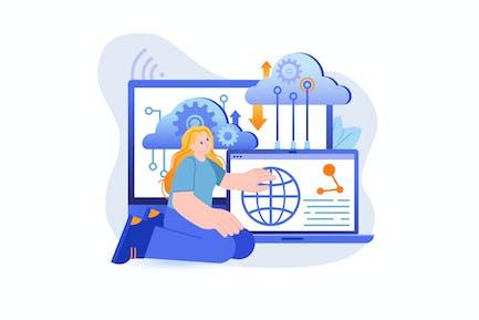 Cloud Computing - Flat Concept