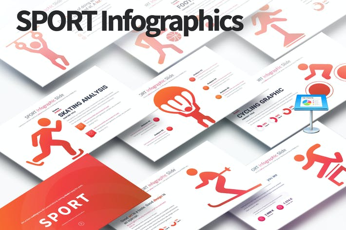 Thumbnail for SPORT - Keynote Infographics Slides