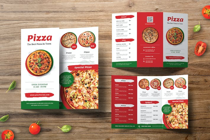 Thumbnail for Pizza Trifold Brochure
