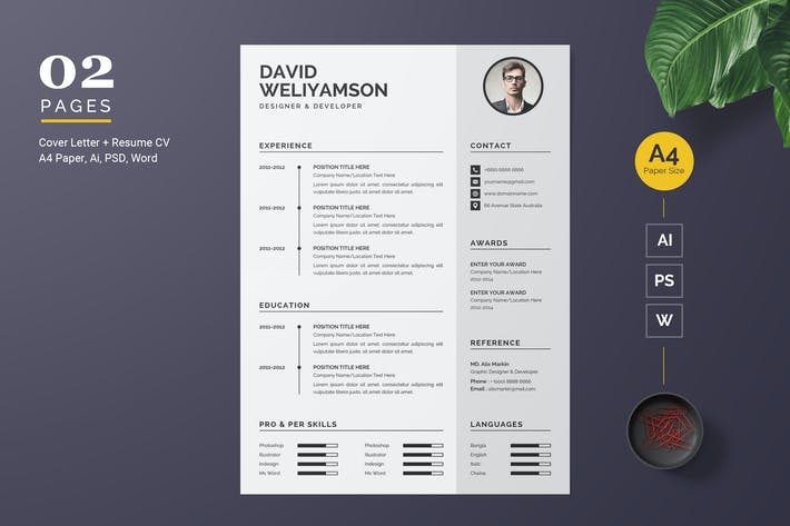 Thumbnail for Word Resume Template