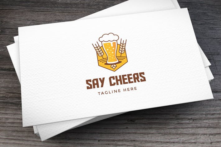 Thumbnail for Say Cheers Logo Template