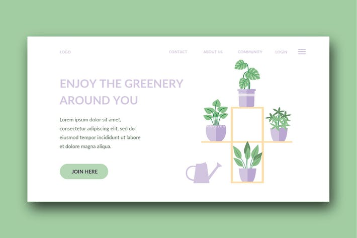 Thumbnail for garden landing page template