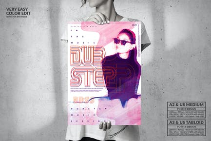 Dubstep Party  - Big Music Poster Design